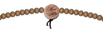 WOOD FELLAS Unisex Deluxe Holz-Perlenarmband und -halskette im Set -