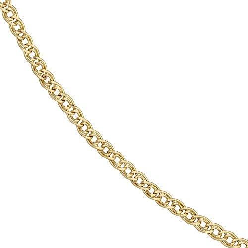 Zwillings-Panzerarmband 333 Gold Gelbgold 21 cm Armband gold Karabinerverschluss -